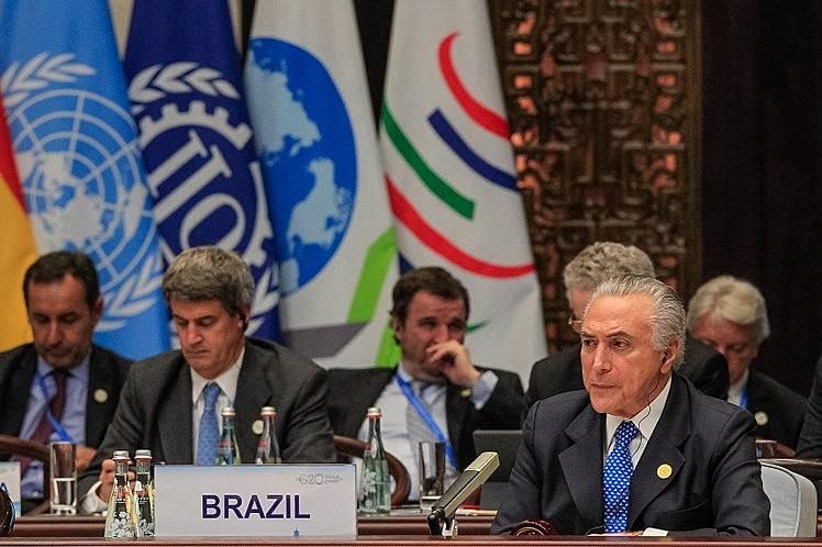 Presidente Michel Temer durante a primeira Sessão de trabalho da Cúpula do G20, na cidade de Hangzhou, na China