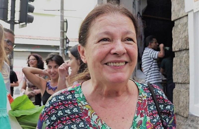 Bete Mendes na inauguração do Armazém do Campo, espaço de comercialização de produtos da reforma agrária, no Rio de Janeiro