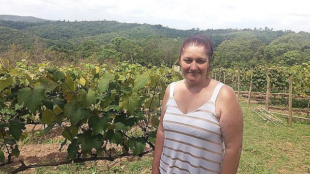 Roseli Maria Paini, assentada do Dom Tomás Balduíno e distribuição dos alimentos livres de veneno whatsapp