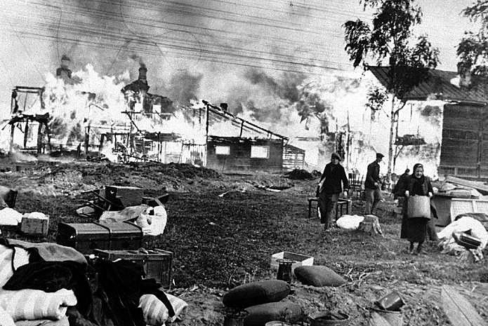 Fome e frio eram adversários tão difíceis quanto as tropas alemãs