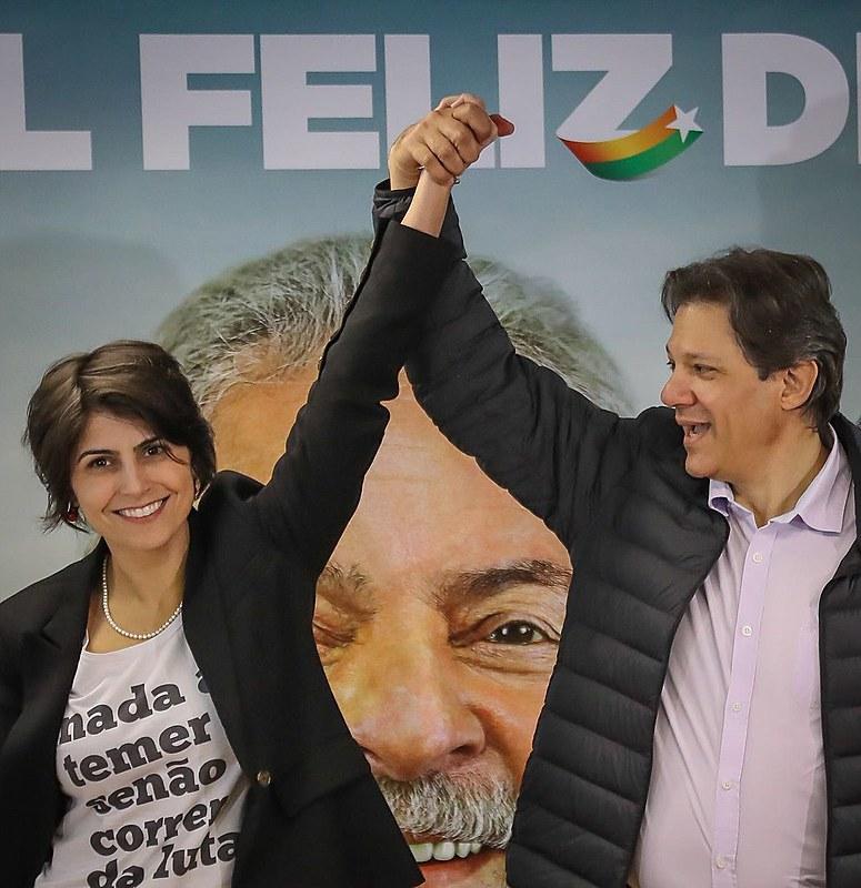 Manuela D'Ávila e Fernando Haddad falam sobre união em torno da candidatura de Lula