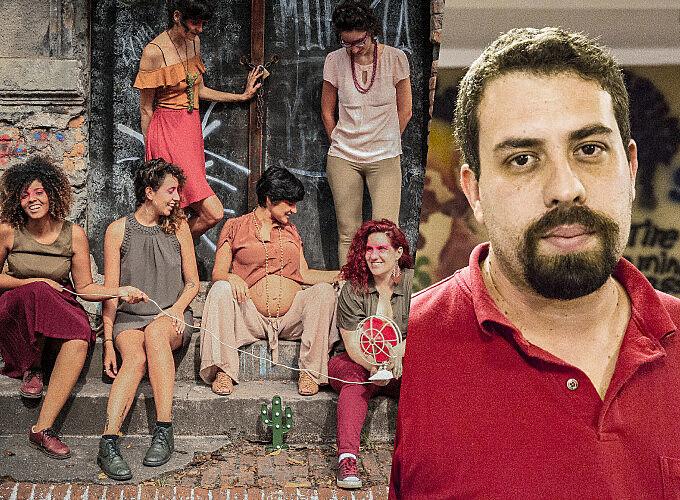 """Banda """"Pitaias"""" e Guilherme Boulos"""