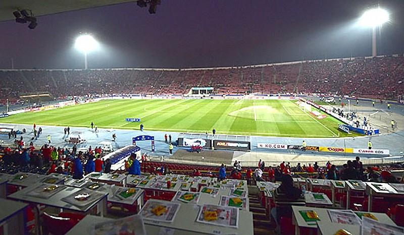 Estádio Nacional, em Santiago, está programado para receber a final da Libertadores