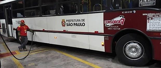 Devido a falta de óleo diesel, a SPTrans reduziu 40% a frota de ônibus na cidade nesta quinta-feira