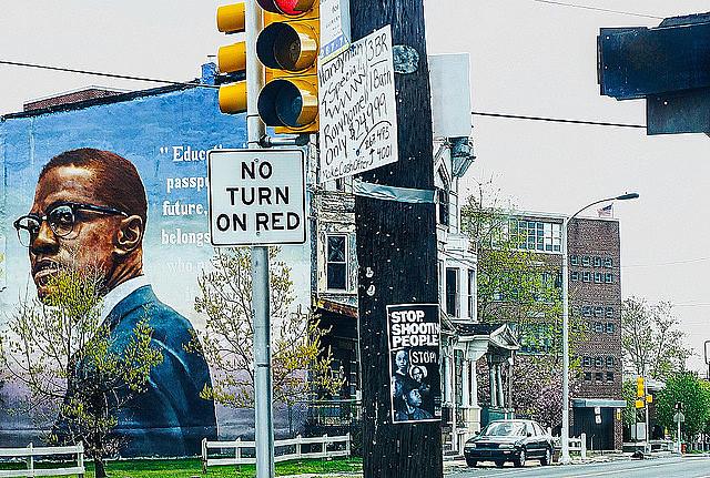 Mural na Filadélfia, no estado da Pensilvânia em homenagem a Malcom X