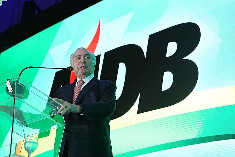 Michel Temer em Convenção Nacional do MDB