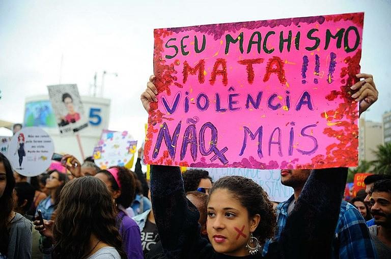 Marcha das Vadias, no Rio de Janeiro, em agosto de 2014