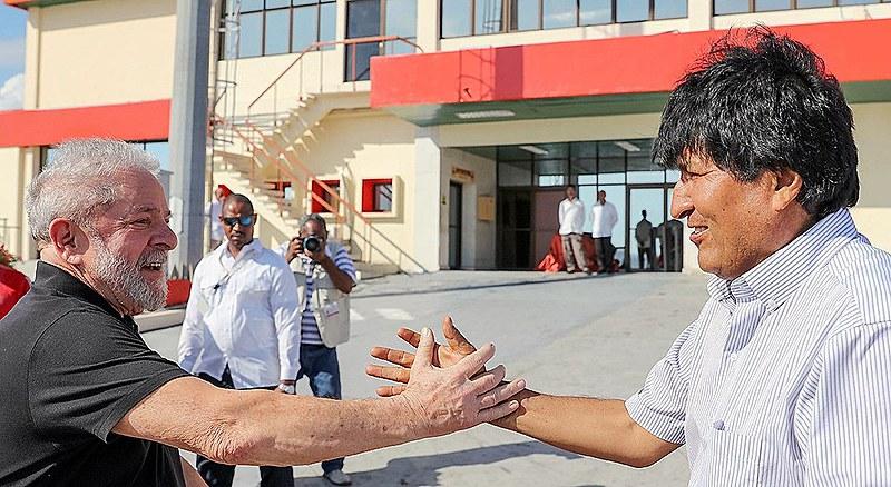 Lula e Evo Morales: líder boliviano expressou solidariedade para com Lula