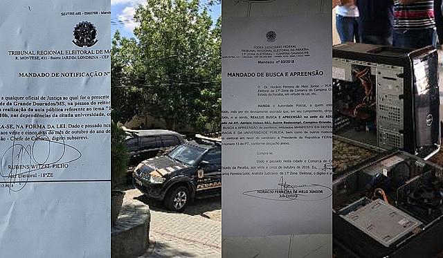 La Policía Federal irrumpió en la sede del sindicato docente en Campina Grande, municipio de Paraíba, en la región noreste de Brasil
