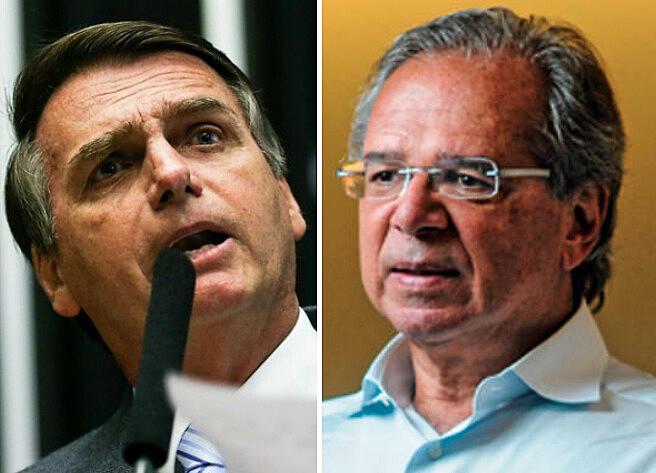 O candidato Jair Bolsonaro que disse não entender de economia, aponta como seu orientador nessa área, o economista Paulo Guedes.