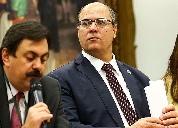 O governador do Rio de Janeiro, Wilson Witzel, durante evento na Câmara