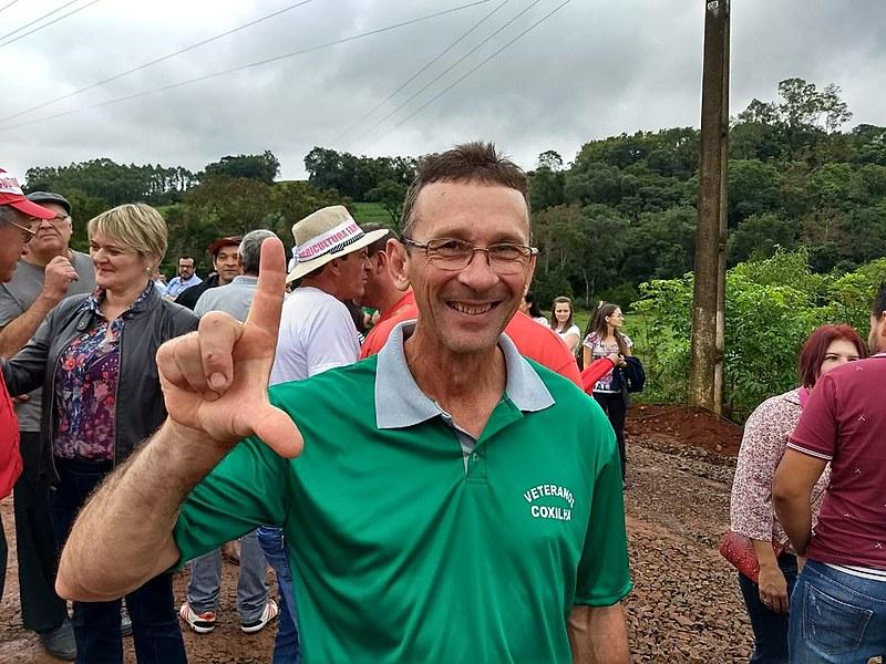O agricultor Paulo Hubner que participou do ato neste domingo (25) em Nova Erechim, relembra a visita de Lula em sua casa em 2001