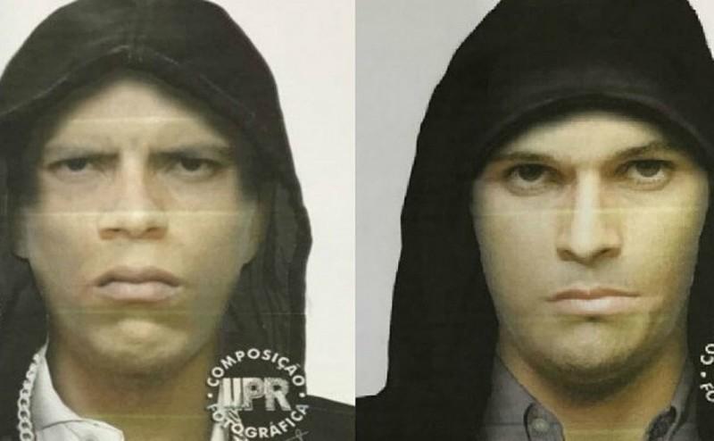 Polícia Civil divulgou o retrato falado dos suspeitos