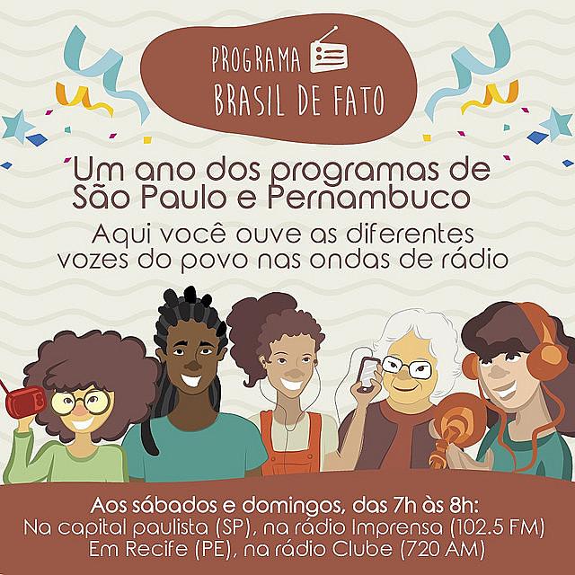 No dia 4 de março foi ao ar os primeiros programas de rádio do Brasil de Fato