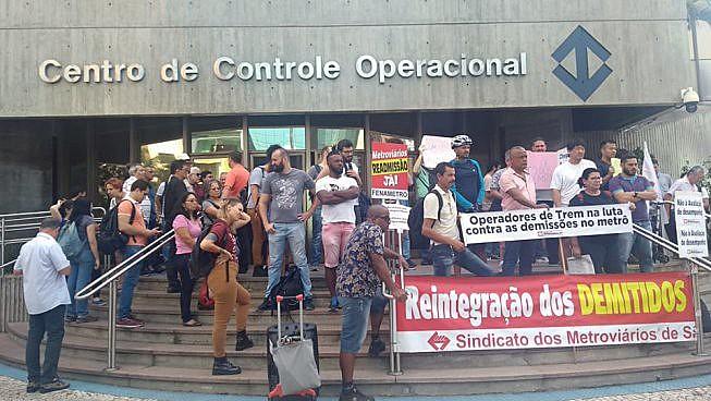 Ato da última quinta-feira, 22, denuncia as demissões realizadas no Metrô de São Paulo em decorrência da política de privatização