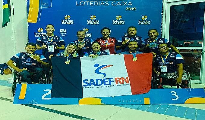 Sete atletas do RN subiram ao pódio 12 vezes durante a competição