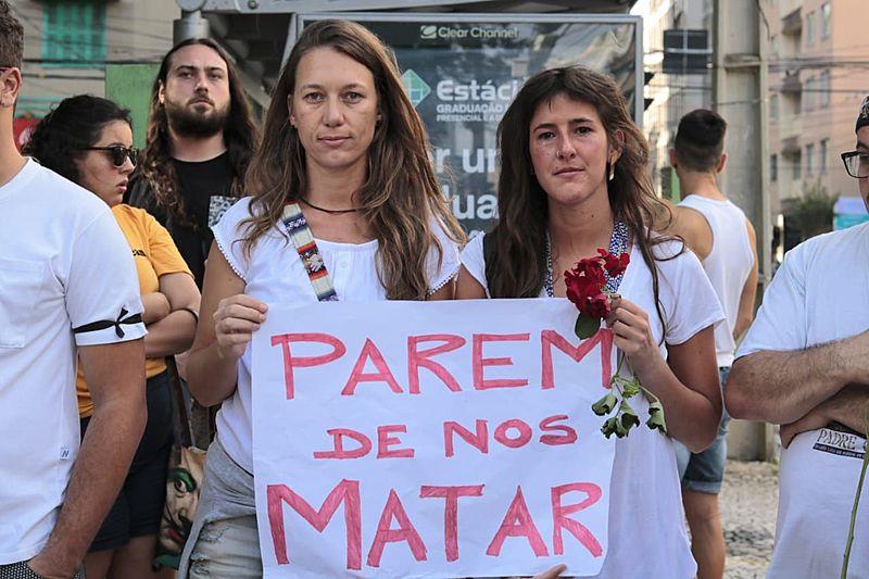 Manifestação pela morte de Magó