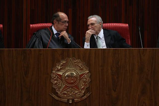 Mendes, como integrante do TSE, é um dos responsáveis por julgamento de eleitoral de Temer