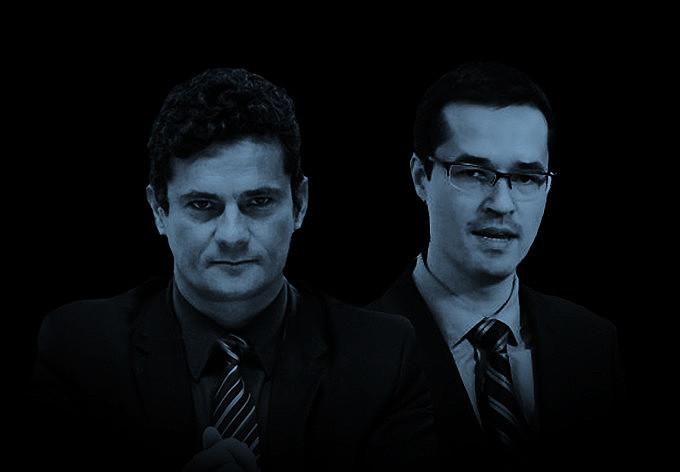 Ex-juiz Sérgio Moro e o procurador Deltan Dallagnol são os nomes mais conhecidos da Lava Jato em Curitiba (PR)