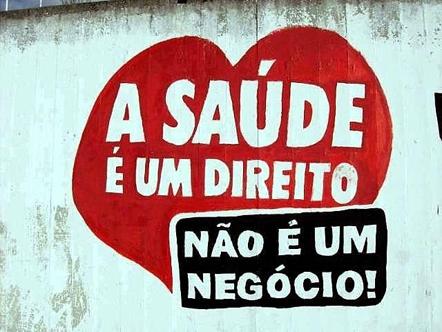 Muro pintado em Sergipe por militantes pela saúde pública