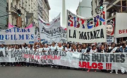 Protesto dos docentes