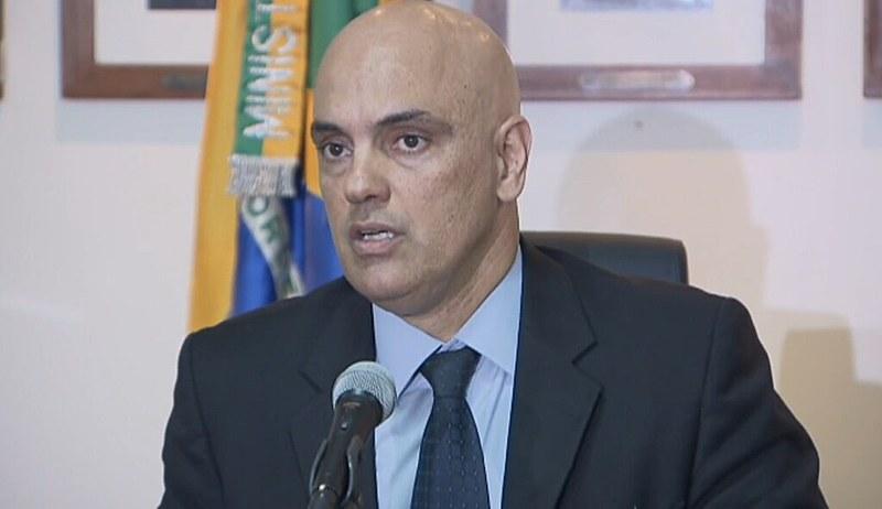 Alexandre de Moraes em coletiva de imprensa sobre crise penitenciária nesta segunda (9)