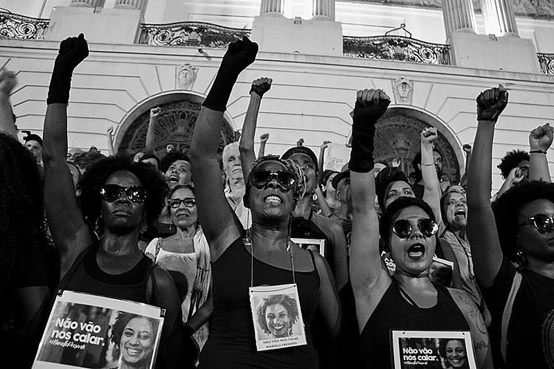 Protestas en Río por el asesinato de Marielle Franco