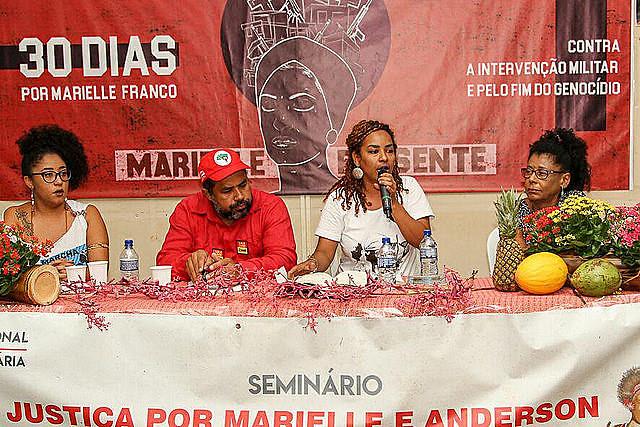 """Seminario """"Justicia por Marielle y Anderson, contra la intervención militar y el genocidio negro"""""""