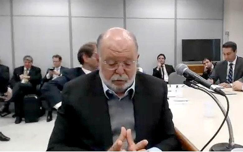 Léo Pinheiro em depoimento a Moro durante a semana passada: versões mudadas após aumento do tempo de prisão