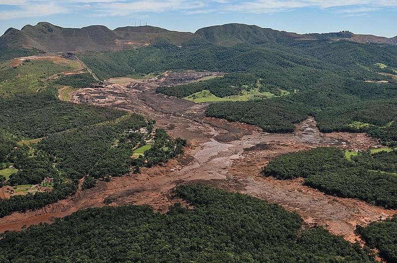 Lama tóxica da Vale em Brumadinho, na Região Metropolitana de Belo Horizonte (MG)