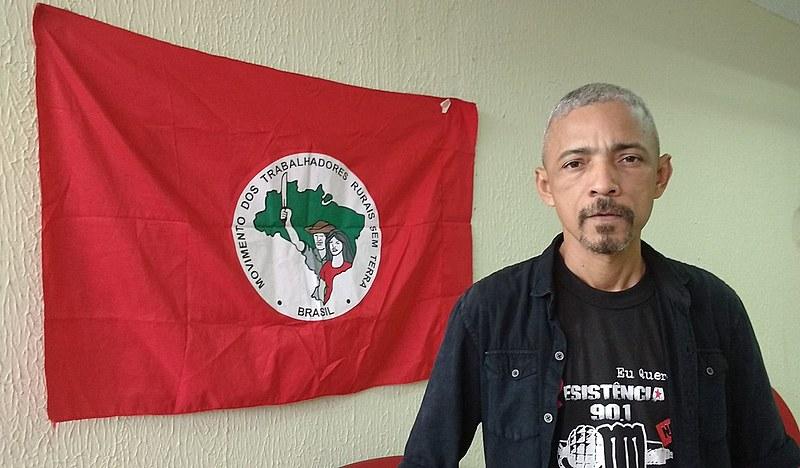 Ulisses Manaças, dirigente nacional do MST no Pará, acompanha as investigações da morte de dez sem-terra ocorridas em Pau D'Arco em maio