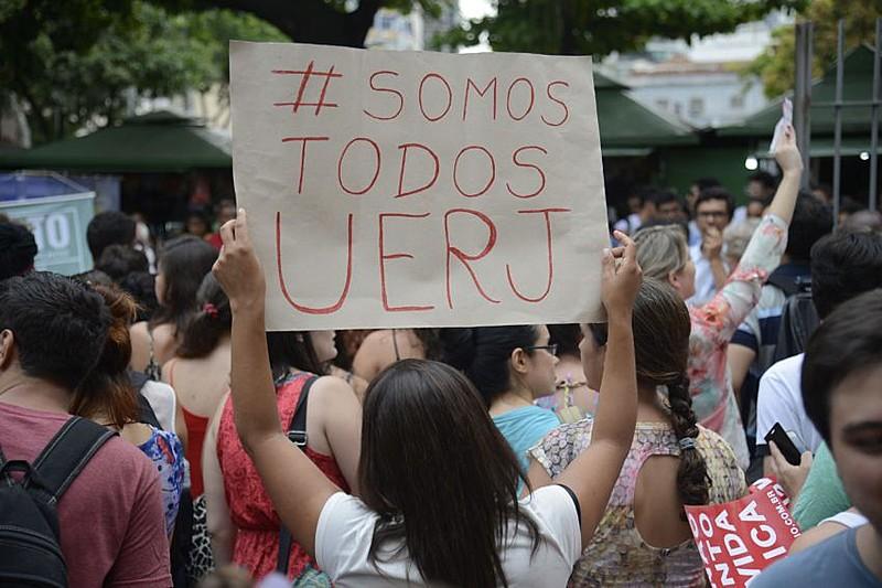 Protestos pelo sucateamento da UERJ são realizados constantemente por professores, alunos e ex-alunos da universidade
