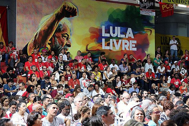 Asistentes al Encuentro Nacional Lula Libre
