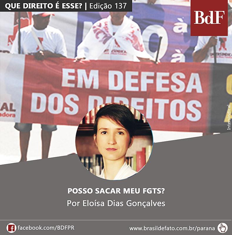 Eloísa Dias Gonçalves é advogada popular e colunista do Brasil de Fato Paraná