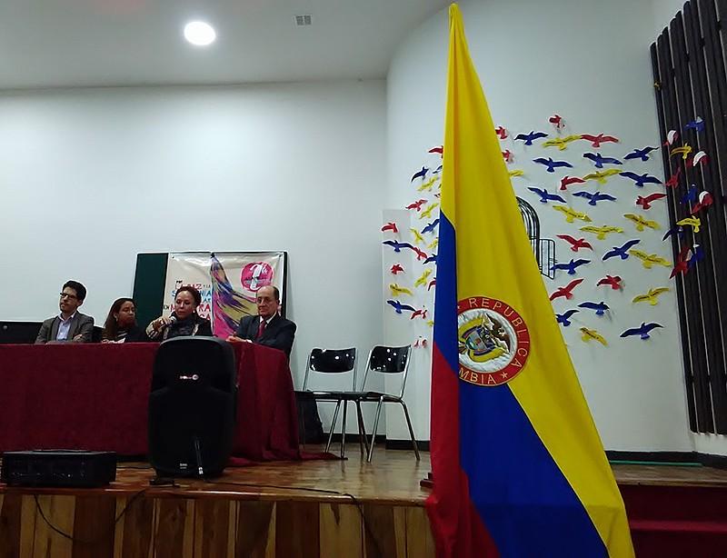 Mesa de abertura da II Assembleia Continental da ALBA Movimentos, que foi acompanhada pelos mais de 200 delegados e delegadas