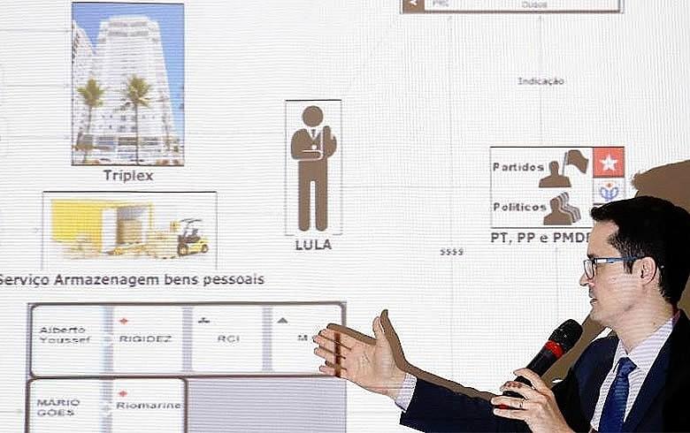 Powerpoint exibido por Deltan Dallagnol em entrevista coletiva foi motivo de processo movido por Lula