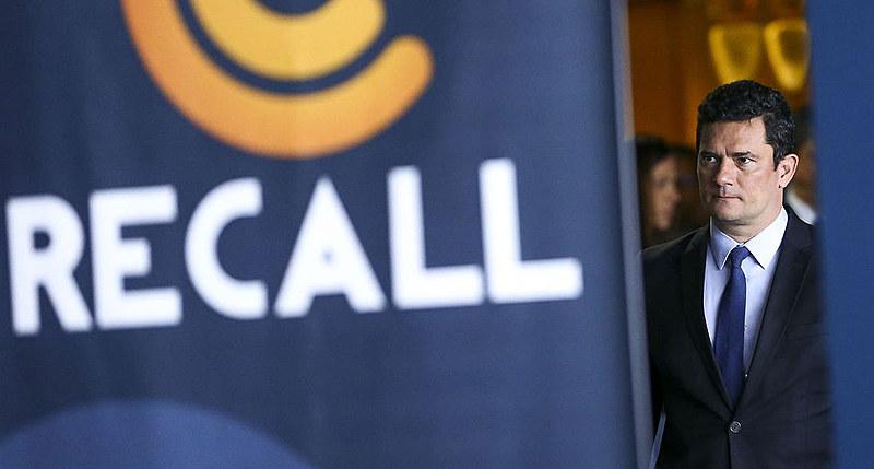 O ministro Sérgio Moro durante evento em Brasília na semana passada