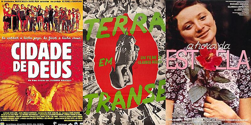 Clássicos do cinema nacional: Cidade de Deus (2002), Terra em transe (1967) e A hora da estrela (1985)
