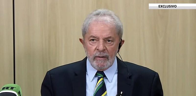 Ex-presidente Lula durante entrevista ao canal russo RT