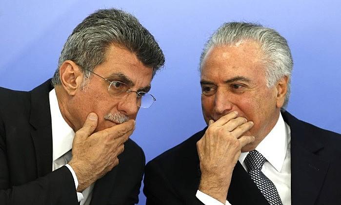 El senador Jucá y el presidente no electo Michel Temer