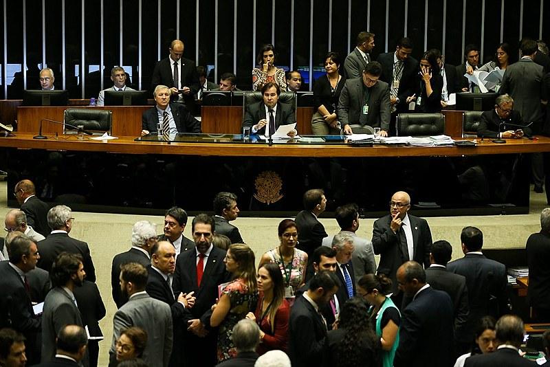 Deputados em sessão no plenário da Câmara no último dia 27