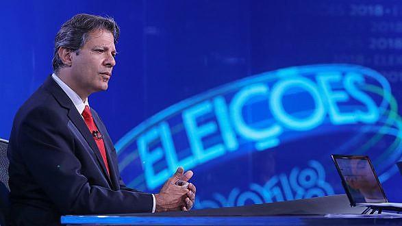 O candidato do PT a presidente, Fernando Haddad, enfrentou bancada hostil no telejornal de maior audiência no país