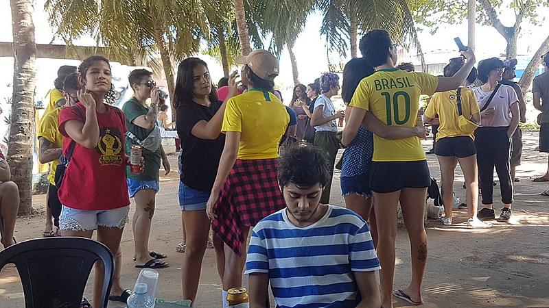 Natalenses acompanham os jogos da Seleção na capital potiguar