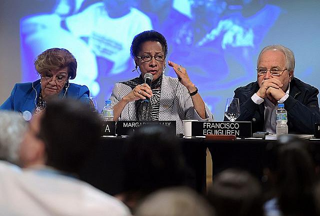 Presidente de la CIDH, Margarette May Macaulay, enfatizó la necesidad del Estado en la resolución de las violaciones