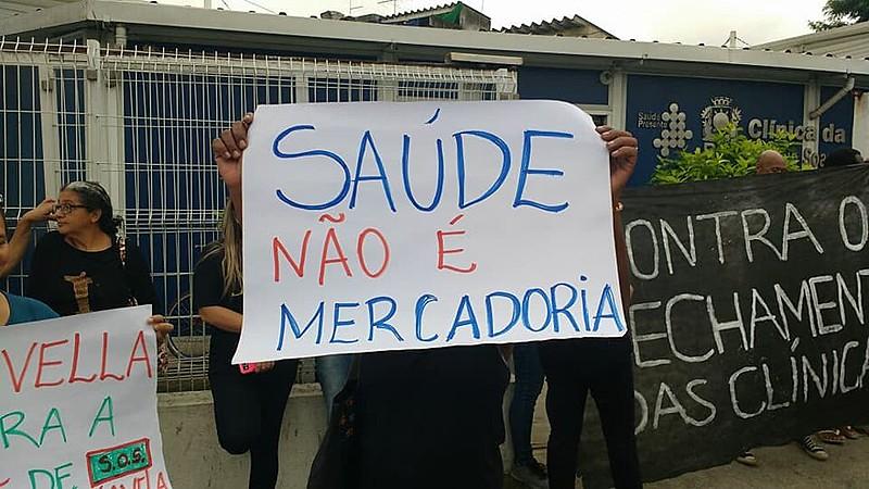 Profissionais da saúde carioca lutam por melhores condições de trabalho