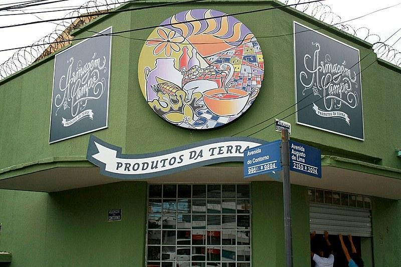 Fachada da loja Armazém do Campo, em Belo Horizonte