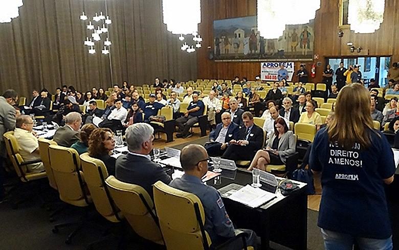 As audiências públicas sobre o orçamento 2018 têm sido realizadas no Salão Nobre da Câmara Municipal