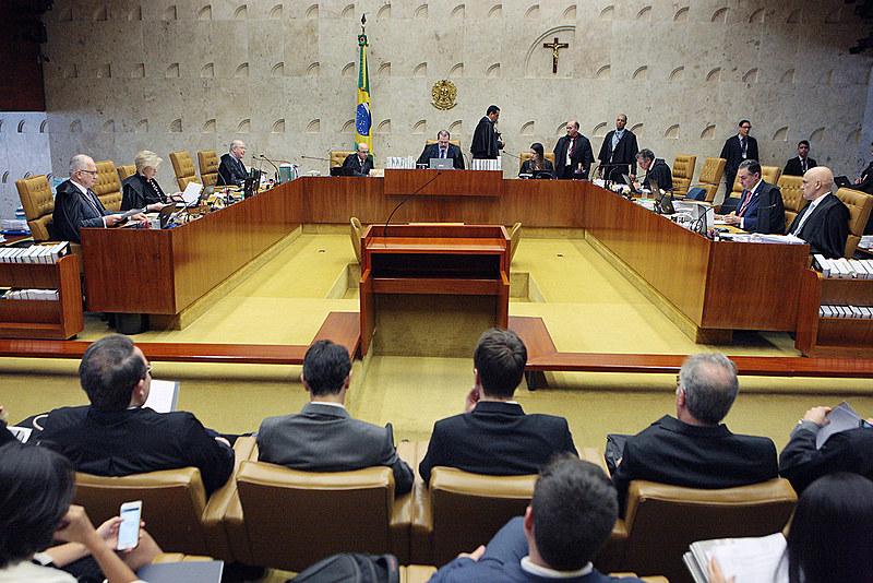 Plenário do Supremo Tribunal Federal durante sessão da corte