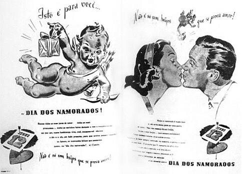 """Slogan das Lojas Clipper: """"Não é só combeijos que se prova o amor"""""""