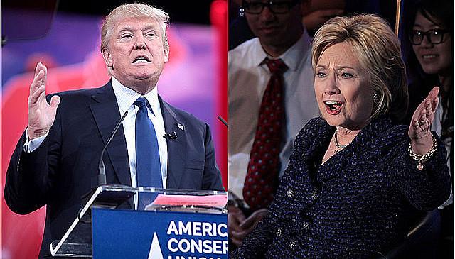 Hillary Clinton e Donald Trump disputam voto a voto na eleição de hoje nos Estados Unidos